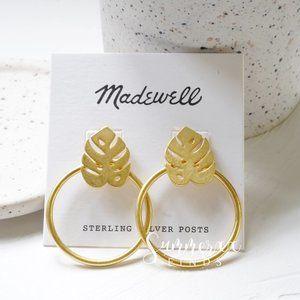 Madewell Palmleaf Hoop Earrings